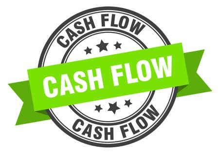 cash flow label. cash flow round band sign. cash flow stamp