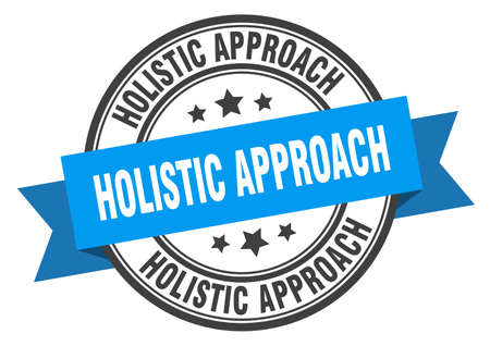 holistic approach label. holistic approachround band sign. holistic approach stamp
