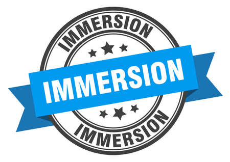 immersion label. immersionround band sign. immersion stamp