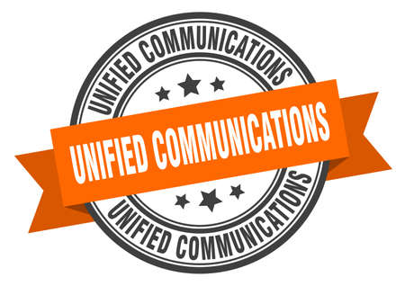 unified communications label. unified communicationsround band sign. unified communications stamp