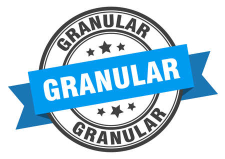 granular label. granular round band sign. granular stamp