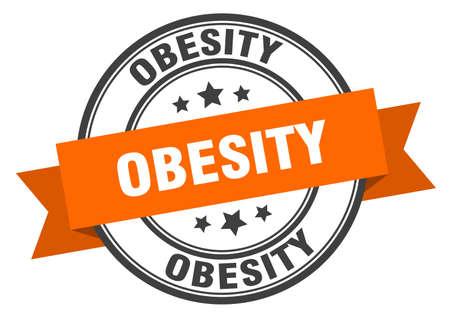 obesity label. obesityround band sign. obesity stamp Çizim