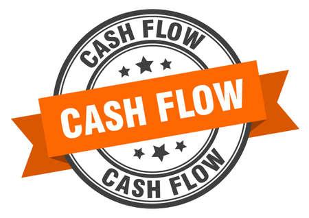cash flow label. cash flowround band sign. cash flow stamp
