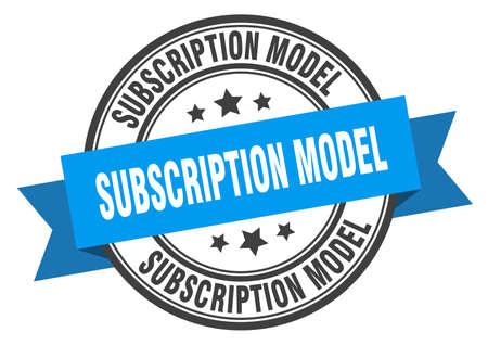 subscription model label. subscription model round band sign. subscription model stamp