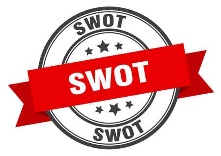 swot label. swotround band sign. swot stamp Illustration