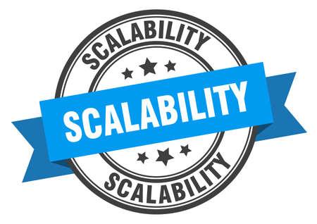 scalability label. scalabilityround band sign. scalability stamp 向量圖像