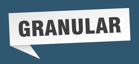 granular speech bubble. granular ribbon sign. granular banner