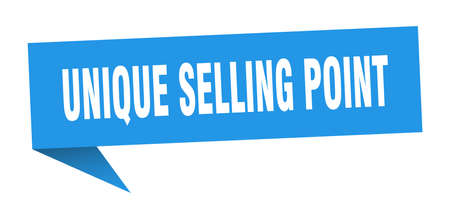 unique selling point speech bubble. unique selling point ribbon sign. unique selling point banner