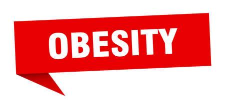 obesity speech bubble. obesity ribbon sign. obesity banner