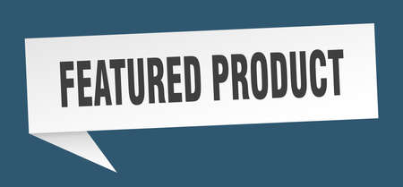 featured product speech bubble. featured product ribbon sign. featured product banner