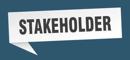 stakeholder speech bubble. stakeholder ribbon sign. stakeholder banner