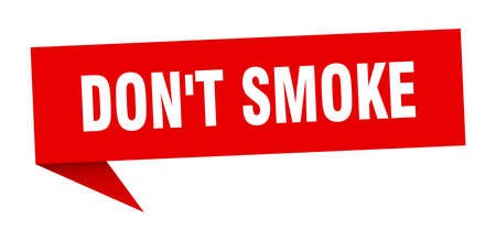 don't smoke speech bubble. don't smoke ribbon sign. don't smoke banner