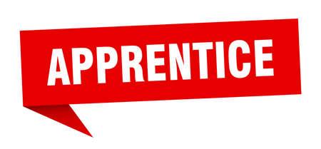 apprentice speech bubble. apprentice ribbon sign. apprentice banner Vettoriali