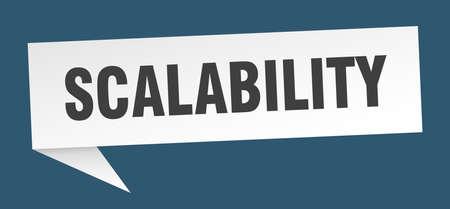 scalability speech bubble. scalability ribbon sign. scalability banner 向量圖像