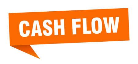 cash flow speech bubble. cash flow ribbon sign. cash flow banner