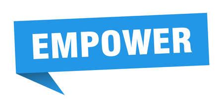 empower speech bubble. empower ribbon sign. empower banner