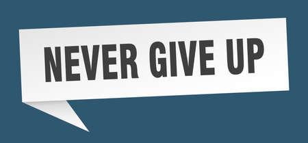 encouragement métal signe Never Give Up positivité Coloré