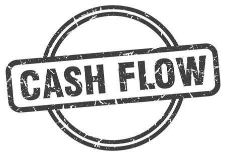 cash flow stamp. cash flow round vintage grunge sign. cash flow