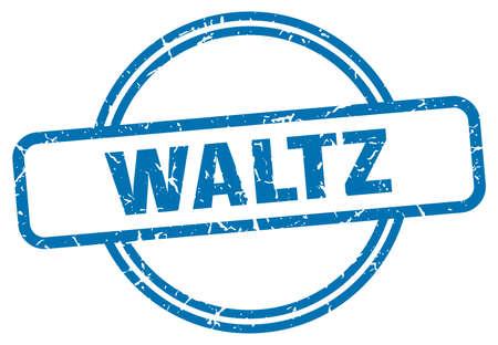 waltz stamp. waltz round vintage grunge sign. waltz Illustration