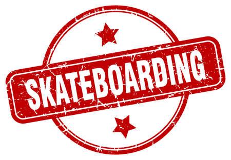 skateboarding stamp. skateboarding round vintage grunge sign. skateboarding 일러스트