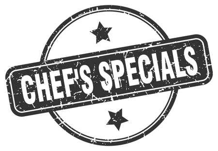 chef's specials stamp. chef's specials round vintage grunge sign. chef's specials Illustration