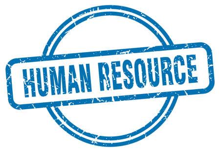 human resource stamp. human resource round vintage grunge sign. human resource