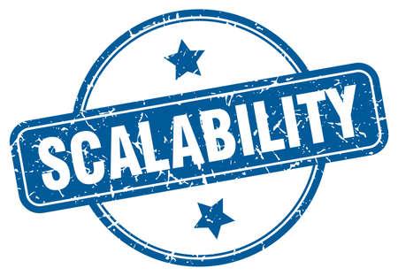 scalability stamp. scalability round vintage grunge sign. scalability 向量圖像