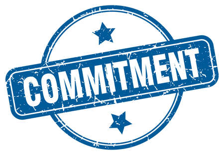commitment stamp. commitment round vintage grunge sign. commitment