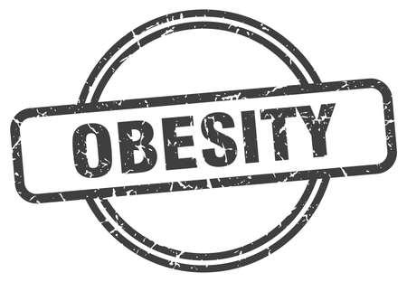 obesity stamp. obesity round vintage grunge sign. obesity Çizim