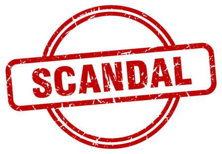 scandal stamp. scandal round vintage grunge sign. scandal