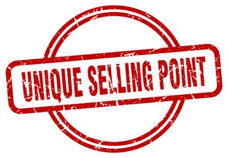 unique selling point stamp. unique selling point round vintage grunge sign. unique selling point