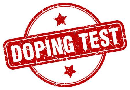 doping test stamp. doping test round vintage grunge sign. doping test