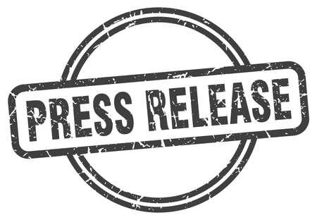 press release stamp. press release round vintage grunge sign. press release