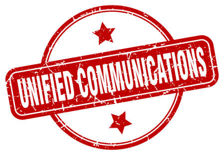 unified communications stamp. unified communications round vintage grunge sign. unified communications Çizim