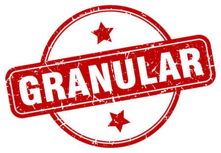 granular stamp. granular round vintage grunge sign. granular