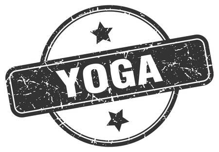 yoga stamp. yoga round vintage grunge sign. yoga Stock Illustratie