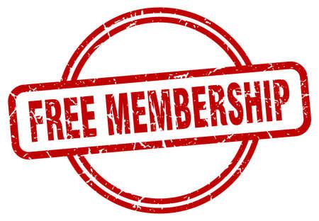 free membership stamp. free membership round vintage grunge sign. free membership Vecteurs