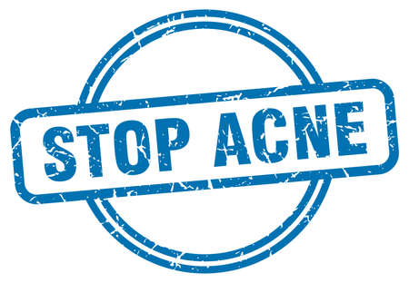 stop acne stamp. stop acne round vintage grunge sign. stop acne 일러스트