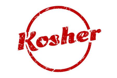 kosher sign. kosher round vintage grunge stamp. kosher Illustration