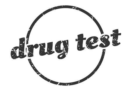 drug test sign. drug test round vintage grunge stamp. drug test Illustration