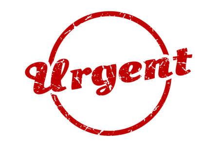 urgent sign. urgent round vintage grunge stamp. urgent Vektorové ilustrace