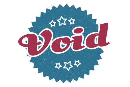 void sign. void round vintage retro label. void