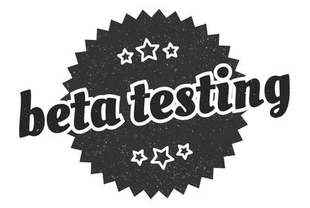 beta testing sign. beta testing round vintage retro label. beta testing