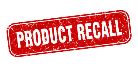 product recall stamp. product recall square grungy red sign. Çizim
