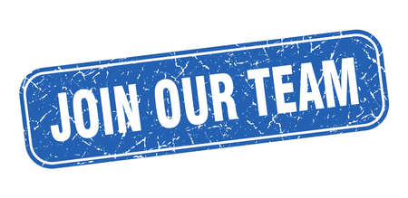 join our team stamp. join our team square grungy blue sign. Illustration