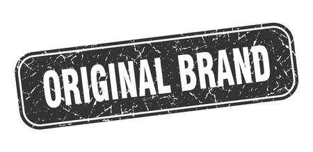 original brand stamp. original brand square grungy black sign.