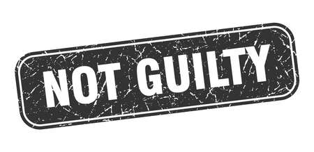 not guilty stamp. not guilty square grungy black sign.  イラスト・ベクター素材