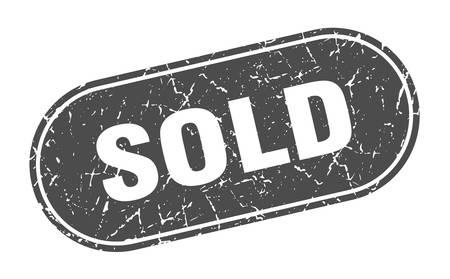 sold sign. sold grunge black stamp. Label