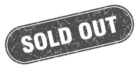 sold out sign. sold out grunge black stamp. Label Иллюстрация