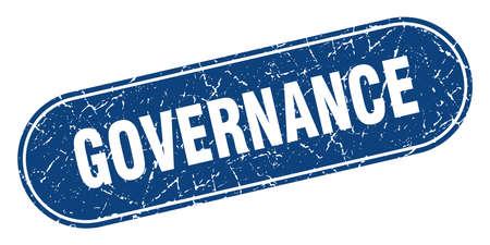 governance sign. governance grunge blue stamp. Label